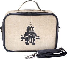 SoYoung Raw Linen Lunch Box - Grey Robot