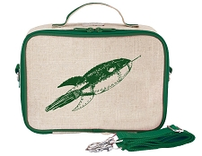 SoYoung Raw Linen Lunch Box - Green Rocket