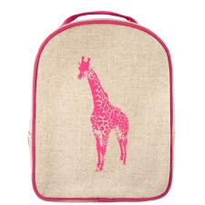 SoYoung Matching Lunch Box to Toddler Backpack - Pink Giraffe