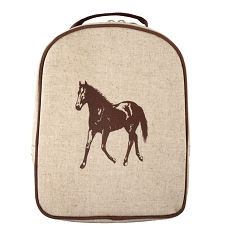 SoYoung Matching Lunch Box to Toddler Backpack - Brown Horse