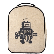 SoYoung Matching Lunch Box to Toddler Backpack - Grey Robot