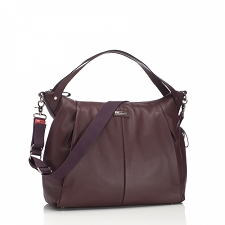 StorkSak Catherine Diaper Bag - Leather Bordeaux