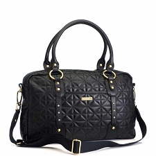 StorkSak Elizabeth Diaper Bag - Quilted Black