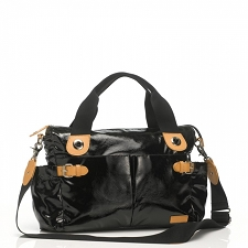 StorkSak Kate Patent Diaper Bag - Black