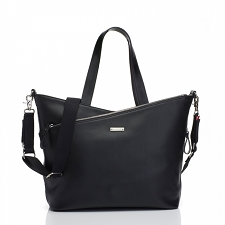 StorkSak Lucinda Diaper Bag - Black