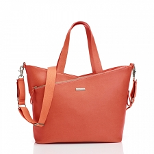 StorkSak Lucinda Diaper Bag - Sunset Orange