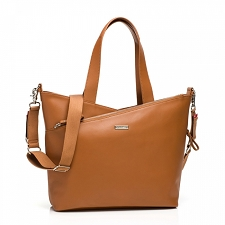 StorkSak Lucinda Diaper Bag - Tan