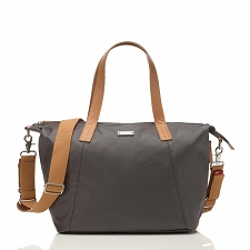 StorkSak Noa Diaper Bag - Chestnut Grey