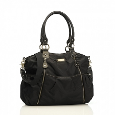 StorkSak Olivia Diaper Bag - Black