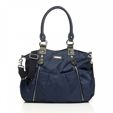 StorkSak Olivia Diaper Bag - Navy Blue