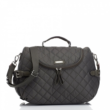 StorkSak Poppy Diaper Bag - Charcoal