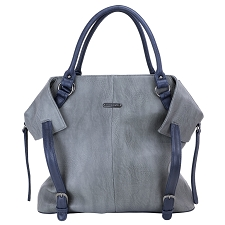 Timi & Leslie Charlie 7-Piece Diaper Bag Set - Gray/Navy