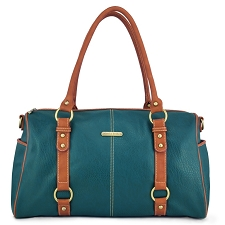 Timi & Leslie Madison 7-Piece Diaper Bag Set - Dark Teal/Saddle