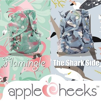 AppleCheeks LIMITED Edition - Flamingle & Shark Side