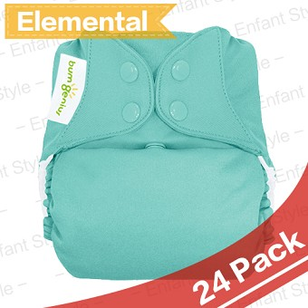 bumGenius Elemental 3.0 One-Size AIO Diapers - 24 Pack