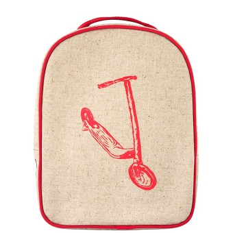SoYoung Matching Lunch Box to Toddler Backpack - Red Kick Scooter