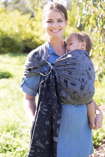 Tula Wrap Conversion Ring Sling - Blast Off Moonrock