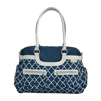 JJ Cole Satchel Diaper Bag - Navy Arbor