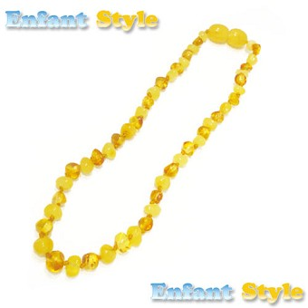 Healing Amber Baby Baltic Amber Teething Necklace - Gold & Cream