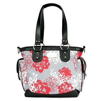 JJ Cole Boutique Diaper Bag - NORAH Bag - Cherry Lotus