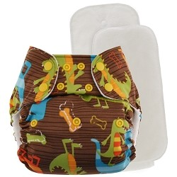 Blueberry One Size Bamboo Pocket Diaper