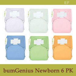 bumGenius 3.0 DELUXE X-Small AIO Diapers for Newborns - 6 Pack