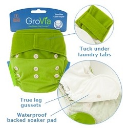 GroVia One Size Cloth Diaper Shell Set - 20%