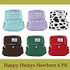 Happy Heinys Mini One Size Diaper for Newborns - 6 Pack