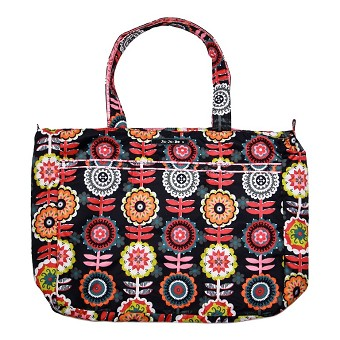 Ju Ju Be Super Be Diaper Bag - Dancing Dahlias