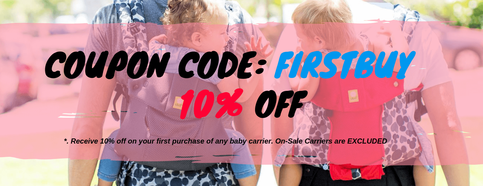 baby carriers first buy promotion