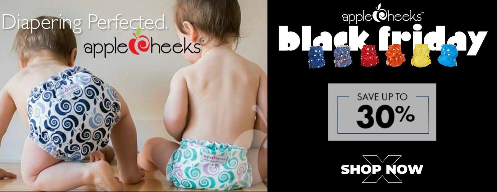 applecheeks cloth diapers black friday sale