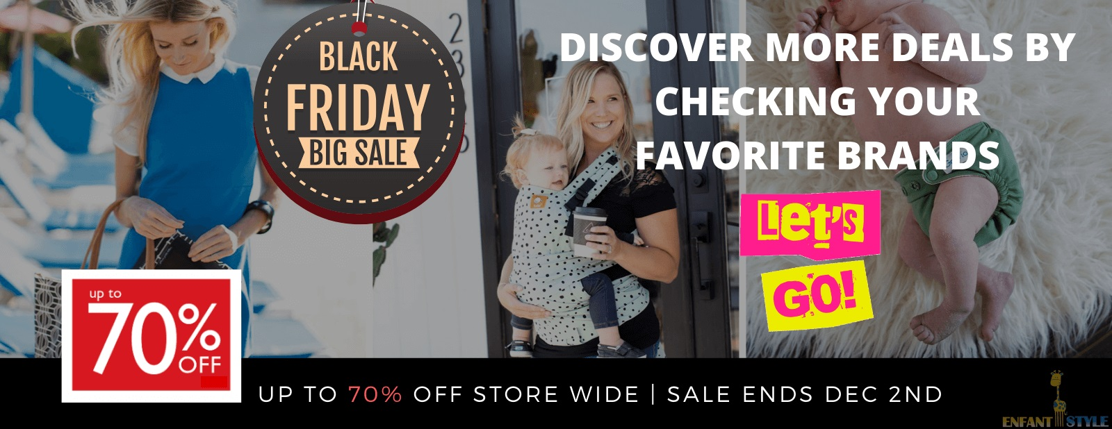 black friday sale at enfant style diaper bags cloth diapers and baby carriers