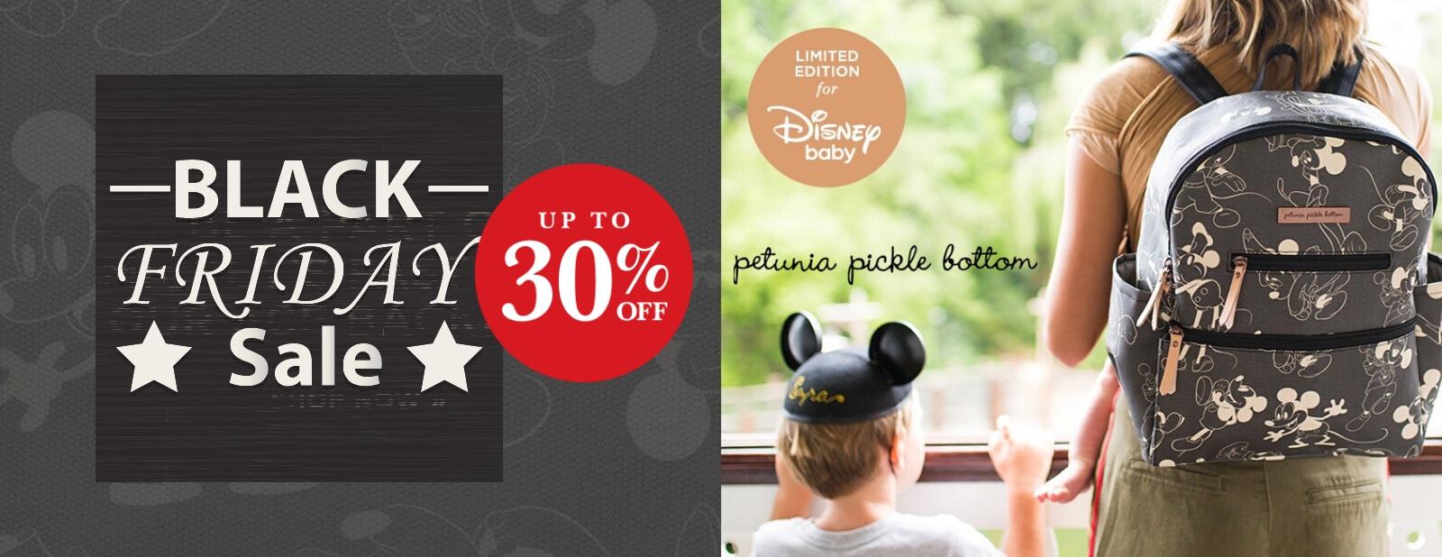 petunia pickle bottom mickey and minnie designer diaper bag black friday sale