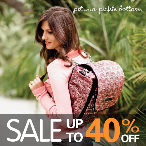 warehouse clearance sales - petunia pickle bottom diaper bag