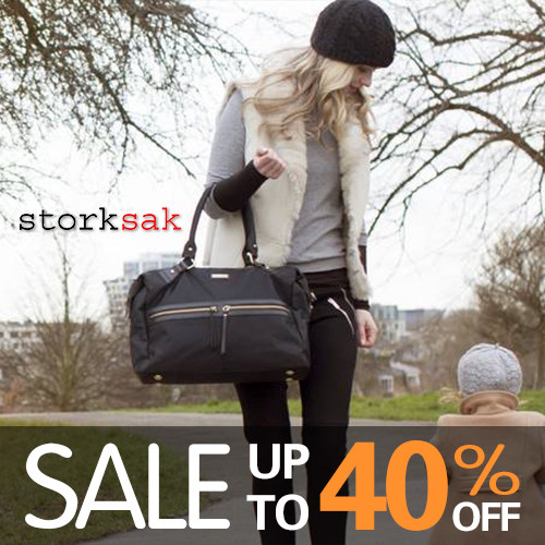 warehouse clearance sales - storksak  diaper bag
