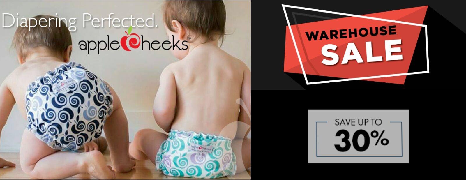 applecheeks cloth diapers warehouse sale