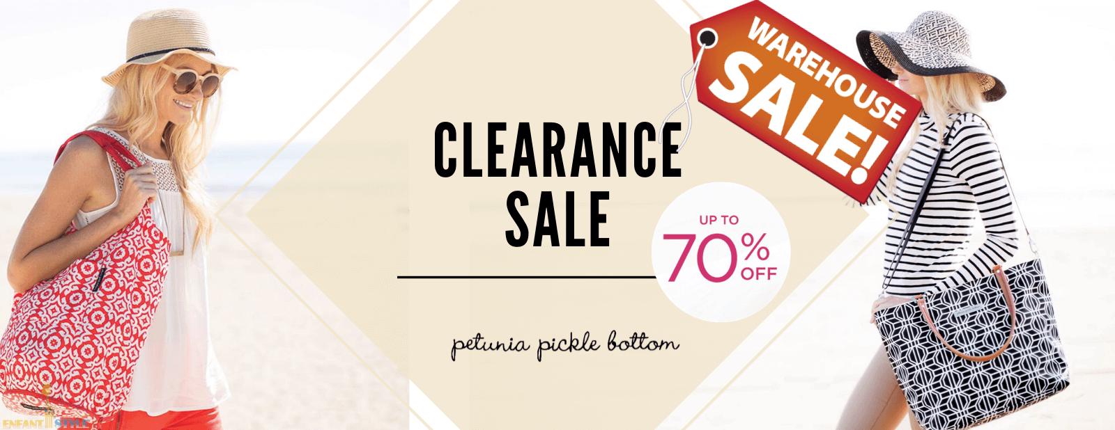 petunia pickle bottom designer diaper bag warehouse sale
