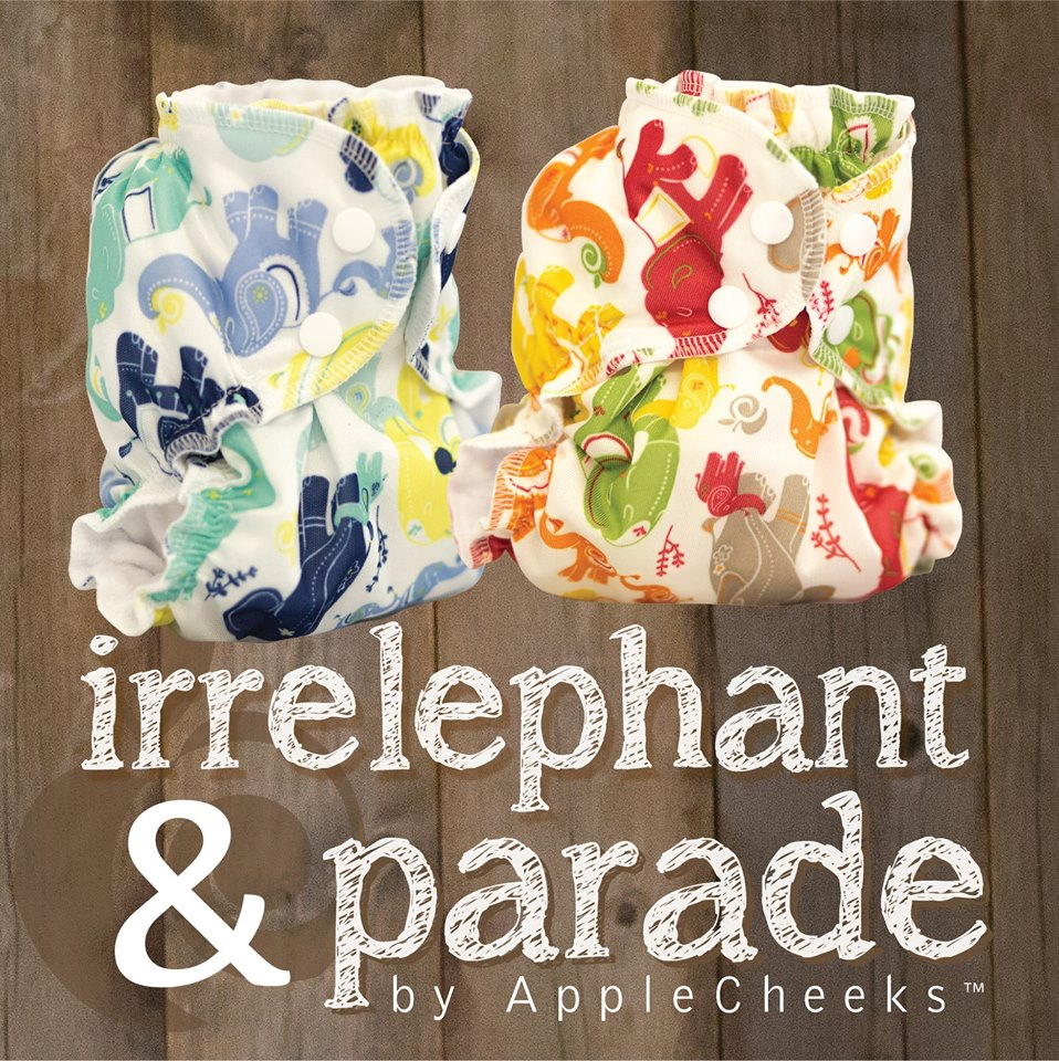 applecheeks new safari prints - irrelephant and parade