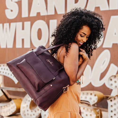 jujube diaper bags - ever collection plum