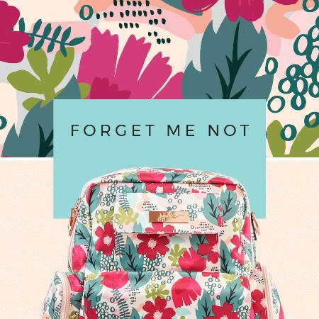 ju ju be diaper bag - forget me not