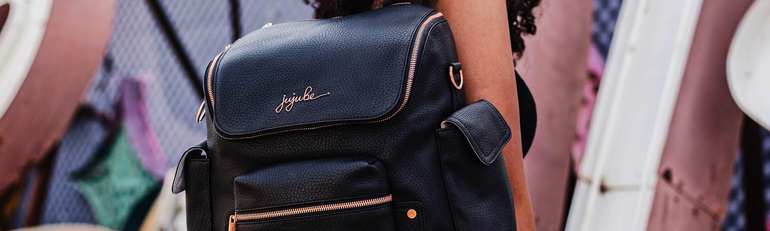 jujube noir rose gold diaper bags