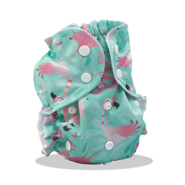 applecheeks one size cloth diaper cover - FLAMINGLE