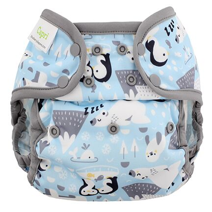 blueberry coveralls diaper cover -  Ice Cap