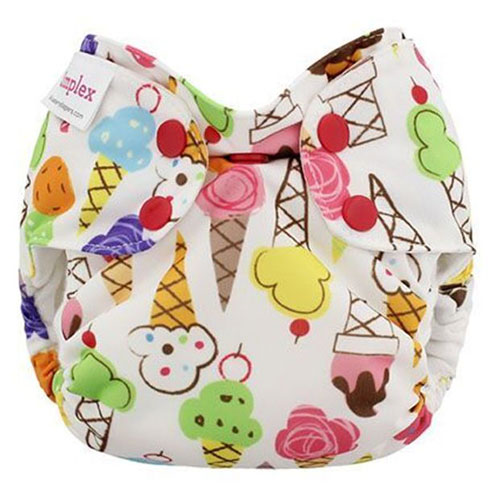 blueberry simplex newborn all in one diaper - ice cream