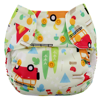 blueberry one size diaper -  Camp Grounds
