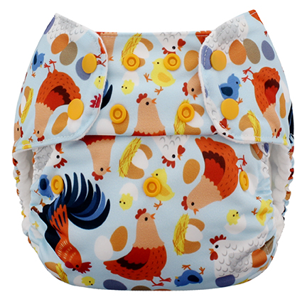 blueberry one size diaper - Chickadee