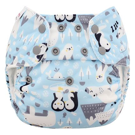 blueberry one size diaper -  Ice Cap