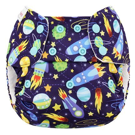 blueberry one size diaper - Space
