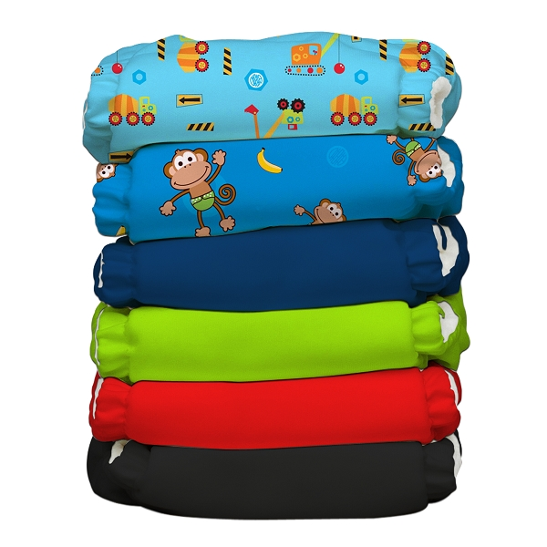 charlie banana one size cloth diaper value pack -  Monkey Business