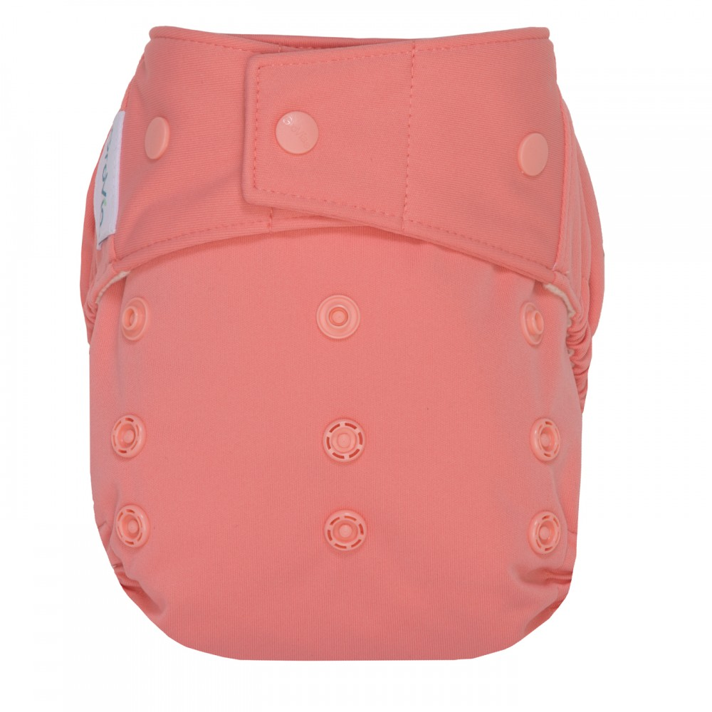 GroVia cloth diaper cover snap - Rose